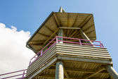 Wooden observation point — Stock Photo