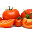 Stock Photo: Tomatoes isolated on white background