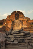Sculpture of Buddha in Ayutthaya — Stock Photo