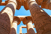 Hieroglyphs of Karnak temple — Stock Photo