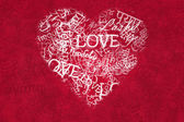 Love Background In Various Languages — Foto Stock