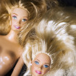 Stock Photo: Two barbie faces
