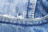карман джинсов — Стоковое фото