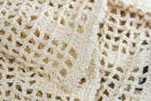 Knitted tablecloth texture — Stock Photo