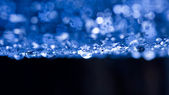 Abstract composition with water drops, spiderwebs and bokeh — Stock Photo