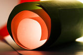 Colorful abstract composition with paper — Stock Photo