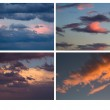 Collage of different colorful skies — Stock Photo #43996407
