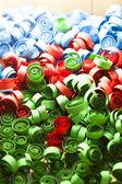 Colored paper spirals — Stock Photo