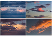 Collage of different colorful skies — Stock Photo