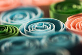 Picture of colored paper spirals — Stock Photo