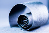 Paper spiral on paper background — Stock Photo