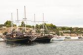Mooi schip in de haven — Stockfoto