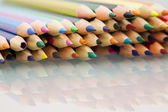 Group of sharp colored pencils — 图库照片