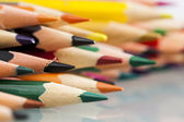 Group of sharp colored pencils — Stockfoto