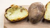 Baked potatoes with shel — Stock Photo