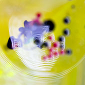 Colorful composition with oil, water and ink — Stock fotografie