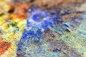 Pompela skórki z kolorowych farb olejnych — Zdjęcie stockowe