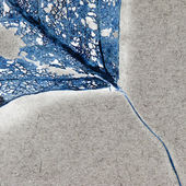 Blue filigree abstract — Stock Photo