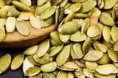 Pumpkin unshelled seeds texture — Stock Photo