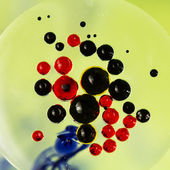 Colorful composition with oil, water and ink — Stock Photo
