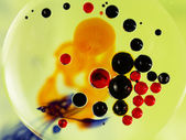 Colorful composition with oil, water and ink — Stok fotoğraf
