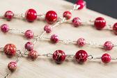 Červený náhrdelník — Stock fotografie
