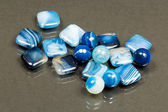 Blue agate gemstones — Stock Photo
