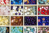 Gemstones in box — Stock Photo
