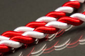 White and red cord — Stock Photo