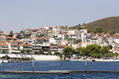 Greek landscape with sea and resorts — Стоковое фото