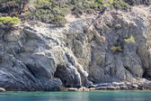 Details of water and rocks - Aegean sea, Greece — Stock Photo