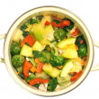 Stock Photo: Vegetable stew in pan
