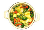 Vegetable stew in a pan — Stock Photo