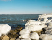 Sea shore in ice — Photo
