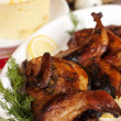 Roasted quail — Stock Photo