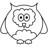 Vector illustration of owl — Vector de stock