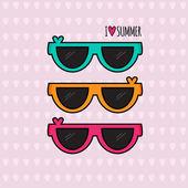 Summer background. Sunglasses. Vector illustration. — Stockvektor