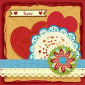 Cute scrapbook elements for valentine's day — ストックベクタ
