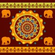 Ethnic ornament with elephants — Stock Vector #36826463