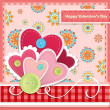 Valentine's day greeting card — Stock Vector #37387791