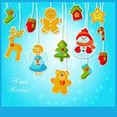 "Christmas card ""Happy holidays"" — 图库矢量图片"