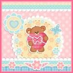 Greeting card with Teddy bear — Stock Vector #38764599