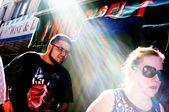 Dva na ulici. nový york. — Stock fotografie