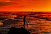 Surfcasting — Stockfoto