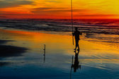 Surfcasting — Stock Photo