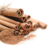 Cinnamon sticks up close — Stock Photo