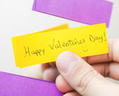 Love note on the mirror — Stock Photo