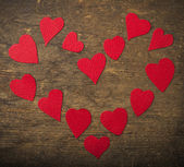 Hand crafted hearts — Stock Photo