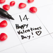 Valentines day marked on a calendar — Stock Photo