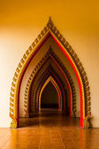 Tunnel door in the thai church at Thailand. — Stock Photo
